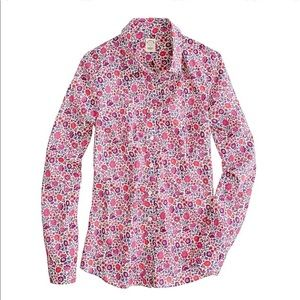 J. Crew Liberty London Floral Perfect Shirt D'anjo